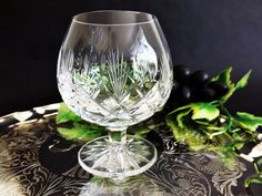 Vintage English Cut Crystal Brandy Snifter, Cognac Goblet, Brandy Glass, Cut Glass Brandy Balloon, Crystal Stemware, Barware, Man Cave Gift by CuriosAnCollectibles on Etsy