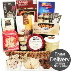 Our best selling Emmanuel Christmas Hamper is packed to bursting with a wide range of carefully selected foods for festive sending. Christmas Hamper, Gifts Delivered, Mince Pies, Flowers Delivered, Hampers, Festive, Caramel, Spices