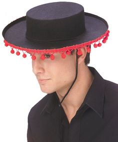 dd9db69903fe0 BLACK TRADITIONAL SPANISH HAT One Size FAST POST Mexican Mens Fancy ...