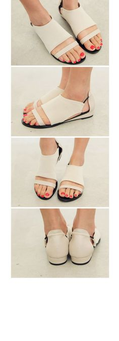 Shoes: white shoes, minimalist shoes, cut out shoes, flats, leather shoes, flat sandals - Wheretoget