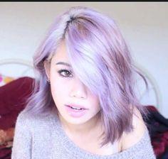 Pastel, purple short hair #hair