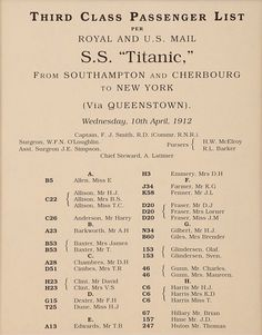 third class passengers on the titanic Raise The Titanic, Real Titanic, Titanic Ship, Titanic History, Titanic Movie, Titanic Survivors, Titanic Poster, Titanic Artifacts