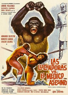 No frigging idea.  Mexican wrestlers vs the mad monkey maybe?