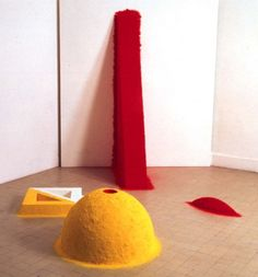 """""""1000 Names"""" (1979-80), by Anish Kapoor. Made from coloured pigment. His first works, inspired by a journey to India."""