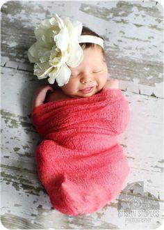 Oversized Flower Headband as Newborn Photo Prop