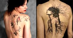 Sketch style tattoos by French tattoo artist L'Oiseau are gorgeous and emotionally intense.