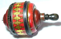 """RARE EMBOSSED&LITHOGRAPHED """"HUMMING TOP""""JACOBS FIGURAL BISCUIT TIN TOY C1928   eBay"""