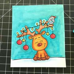 This is so cute I love it - Zeichnung Christmas Drawing, Christmas Paintings, Diy Christmas Cards, Christmas Art, Draw So Cute Christmas, Winter Christmas, Xmas, Bullet Journal Inspiration, Easy Drawings