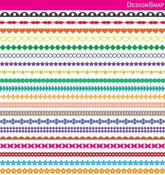 Colorful digital borders clip art.  A set of digital dividers in different colors.  Clip art for scrapbooking, wall art, invitations, banners, logos and other designs.  Great DIY craft idea and inspiration clip art.