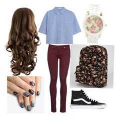 A fashion look from August 2015 featuring cut-out crop tops, slim fit trousers and black laced shoes. Browse and shop related looks. Maroon Jeans, Crop Top With Jeans, Alexander Wang, Vans, Crop Tops, Shoe Bag, Polyvore, Clothes, Shopping