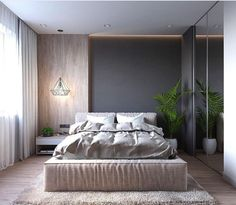 House contemporary interior loft 60 Ideas for 2019 Modern Bedroom Design, Master Bedroom Design, Bed Design, Home Bedroom, Bedroom Wall, Bedroom Ideas, Bedroom Designs, Loft Interior, Decor Interior Design