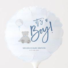 Boy Teddy Bear Blue Gray Balloon Baby Shower Baby Shower Ballons, Baby Shower Parties, Shower Party, Photo Balloons, Blue Balloons, Teddy Bear Baby Shower, Baby Boy Shower, Custom Teddy Bear, Baby Shower Table Decorations