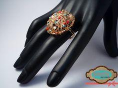 {Nueva creación} Anillo multicolor en forma de nido. #rings -NO DISPONIBLE-