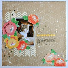 Jesse-cat at the summer cottage - scrapbooking layout by Anski