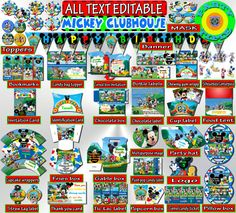 Mickey Mouse Clubhouse Birthday Package by PartyTimeDigital