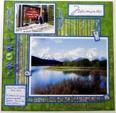 Travel Scrapbook layout using RRD stamps