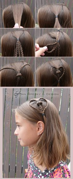 srdce ve vlasech z upletených copků Beauty Ideas, Girl Hairstyles, Hair Beauty, Heart, Hair Styles, Girls, Fashion, Beauty, Kid