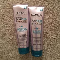 L'Oreal Shampoo/Conditioner Ever pure sulfate free color hair system. Repair and defend goji and acai. Used once (cond a little more than shampoo). L'Oreal Other