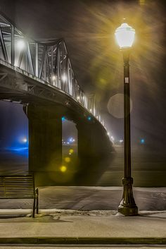 https://flic.kr/p/qksSwr | Winter Night on the Ohio River. | Captured in Madison Indiana.