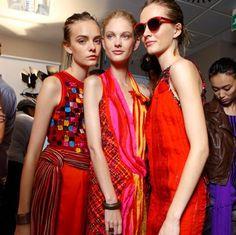 Una de las tendencias en el Fashion Week: Scarlet Fever
