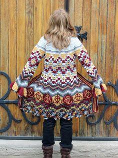 Spirit of Wizards Sweater CROCHET PATTERN Instant by EyeOfTheFiber