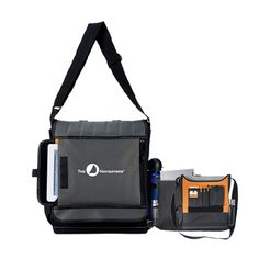 The Navigators Impact Vertical Grey Computer Messenger Bag