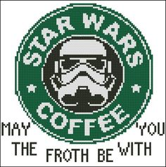 Star Wars Coffee - May the Froyh with You - Pattern by thefunnyads