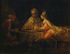 Asuero y Amán en la fiesta de Ester, de Rembrandt