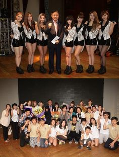 T-ara makes a surprise visit and donates money to a Korean school in Malaysia