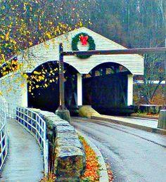 Christmas Covered Bridge,Philippi WV   Flickr - Photo Sharing!