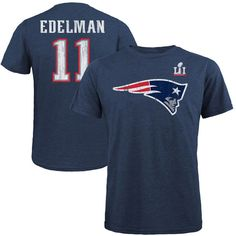 Julian Edelman New England Patriots Majestic Threads Super Bowl LI Champions Tri-Blend Name & Number T-Shirt - Navy - $39.99