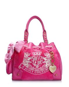 ♥ | Juicy Couture + Pink = A MUST HAVE. I like the Dragon Fruit color best for this bag.