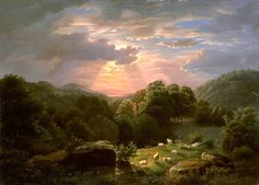 Landscape with Sheep, Robert S. Duncanson