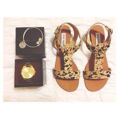 Leopard Steven Madden sandals <3