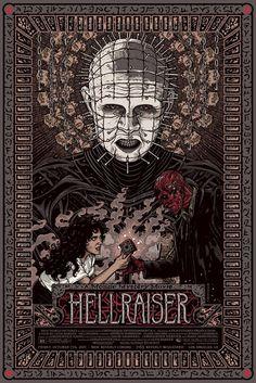 "xombiedirge: "" Hellraiser by Florian Bertmer 24"" X 36"" Screenprint, part of Mondo's Mystery Movie Series. S/N Edition of 245 """