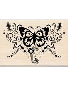Inkadinkado Butterfly Magic Wood Stamp 159
