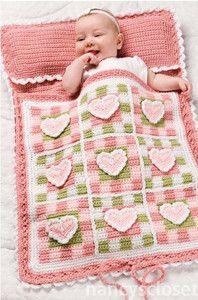 Pretty Hearts Baby Sleeping Bag Crochet Pattern   eBay