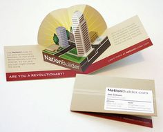 A pop-up business card is a good choice if you want something unique and intriguing. Here are 15 creative examples of pop-up business cards for you to explore. Die Cut Business Cards, Unique Business Cards, Creative Business, Business Card Design Inspiration, Business Design, Corporate Design, Art Et Design, Web Design, Graphic Design