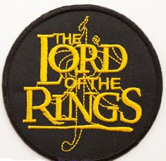 Lord of the Rings NEW UNUSED The Hobbit Dragon and Name Logo Embroidered Patch