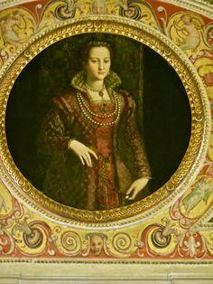 Eleanora di Toledo (Medici) by Bronzino, in the Studiolo of Francesco I, Palazzo Vecchio, Florence