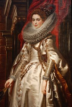 """Brigida Spinola Doria"", 1605, by Peter Paul Rubens (Flemish, 1577-1640). National Gallery of Art, Washington."