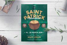 St.Patrick's Party Flyer by Tokosatsu on @creativemarket