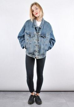 Vintage Blue Denim Jacket /R7155 | Leather, Jackets and Denim jackets