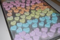 No-bake your own Conversation heart candies!