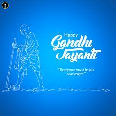 Creative vector illustration 2nd october gandhi jayanti - Indiater