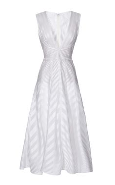 Shop Silk-Organza A-Line Dress by J. Mendel Now Available on Moda Operandi