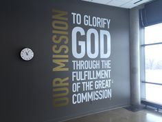 mission statement wall - Google Search