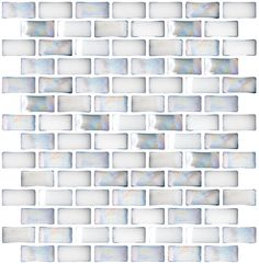 Iridescent White Curved Glass Tile