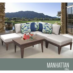 TK Classics Manhattan 13 Piece Sectional Seating Group With Cushion Fabric:  | Products | Pinterest | Cushion Fabric And Products