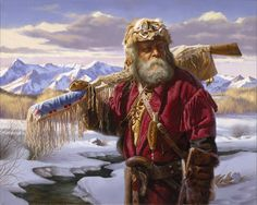 mountain men art | Lonely Trapper ~ Alfredo Rodriguez | My Outlandish Style | Pinterest